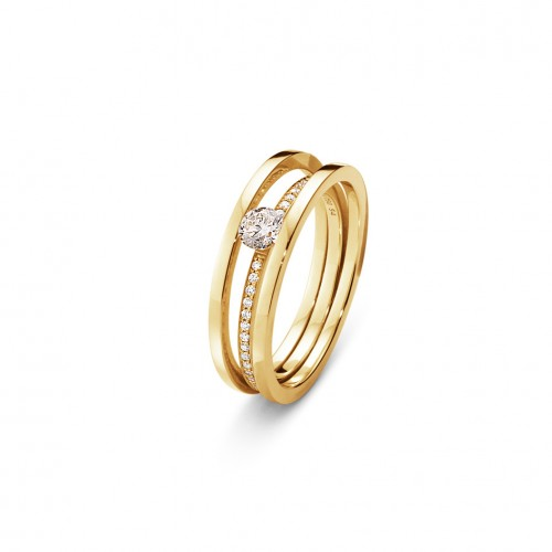 Georg Jensen Halo Solitaire Ring 20000117