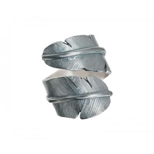 Heiring Fjer Ring Bred Oxideret 51-5-89OX