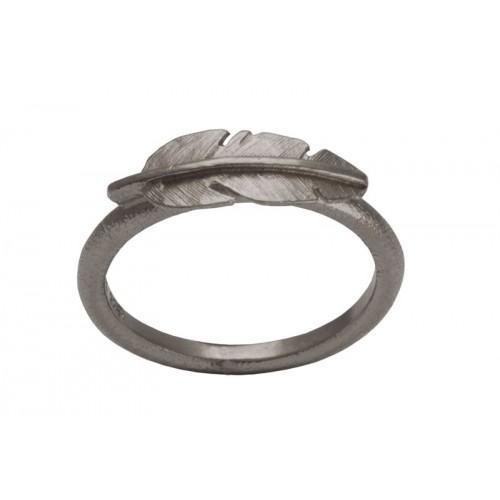 Heiring Fjer Ring Mini Oxideret 51-6-00OX