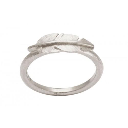 Heiring Fjer Ring Mini Rhodineret 51-6-00RH