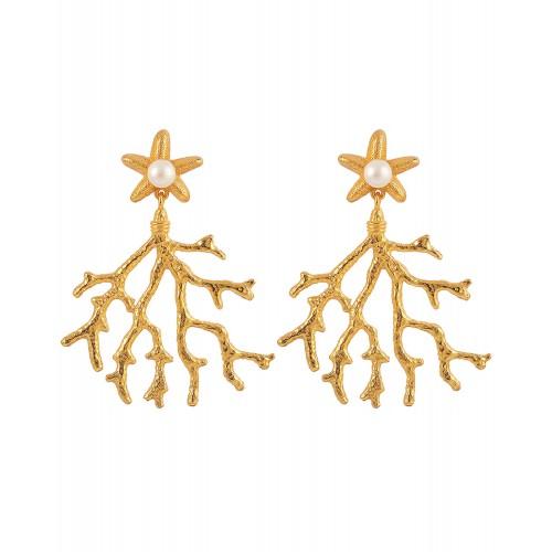 Hultquist Coral Leaf øreringe S08053 G