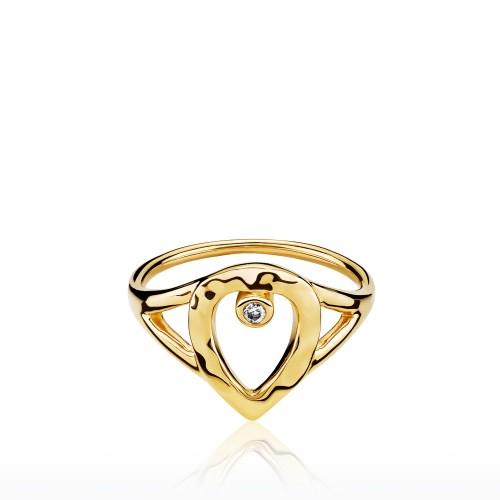 Cecilie Schmeichel Ring Forgyldt a4169gs