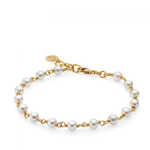 Izabel Camille Miss Pearl Armbånd a3112gswhi...