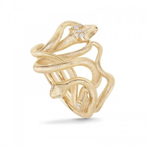 Ole Lynggaard Snakes Medusa Ring A3057-401