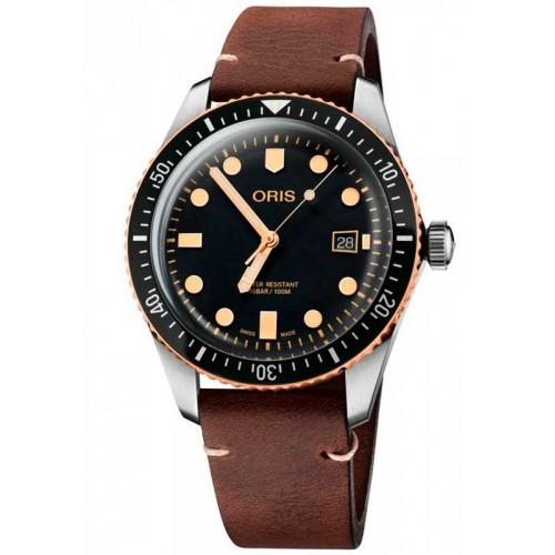 Oris Divers 65 73377204354LSDARKBROWN