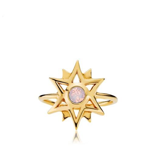 Olivia by Sistie - Ring Forgyldt & opal r...