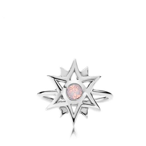 Olivia by Sistie - Ring Sølv & opal rosa...