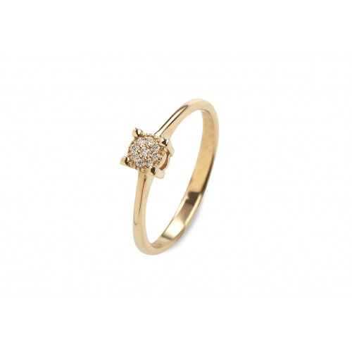 Princess Solitaire Ring Guld